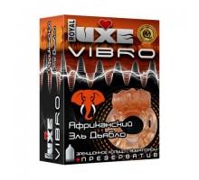 Эрекционное виброкольцо Luxe VIBRO  Африканский Эль Дьябло