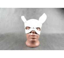 Белая кожаная маска на верхнюю часть лица  Е-РАБбит