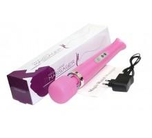 Розовый беспроводной массажер Magic Wand с 10 режимами вибрации